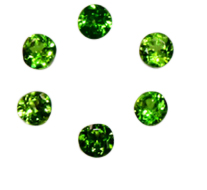 Natural Super Fine Green Tourmaline Melee - Round Diamond Cut - Brazil - AAAA Grade