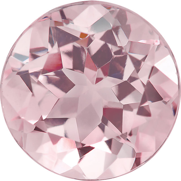 7mm Natural Super Fine Baby Pink Morganite - Round - Mozambique - AAAA Grade