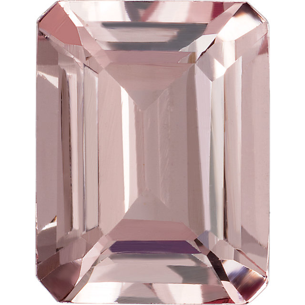 Natural Extra Fine Morganite - Emerald Cut - Mozambique - AAA+ Grade
