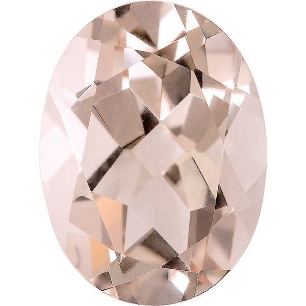 Natural Fine Morganite - Oval - Mozambique - AAA Grade