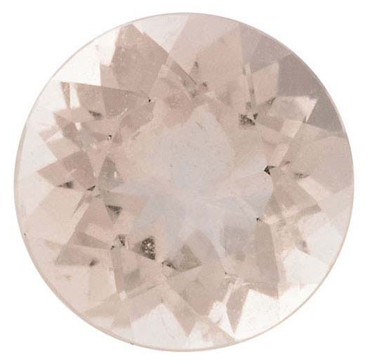 Natural Fine Morganite - Round - Mozambique - AAA Grade