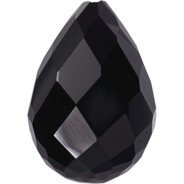 Natural Extra Fine Black Onyx - Briolette - Brazil - AAA+ Grade