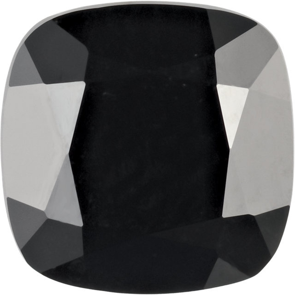 Natural Extra Fine Black Onyx - Antique Cushion - Brazil - AAA+ Grade