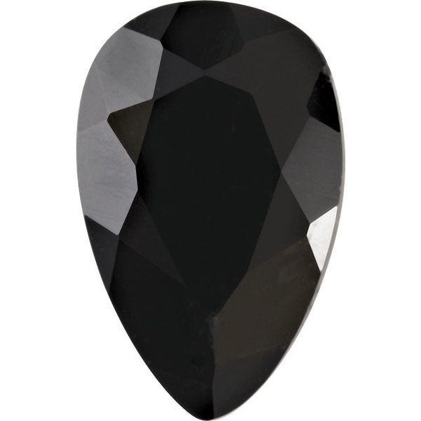 Natural Extra Fine Black Onyx - Pear - Brazil - AAA+ Grade