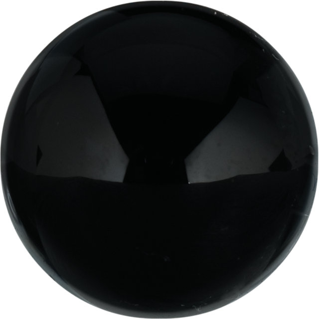 Natural Fine Black Onyx - Round Cabochon - Brazil - Top Grade - NW Gems & Diamonds