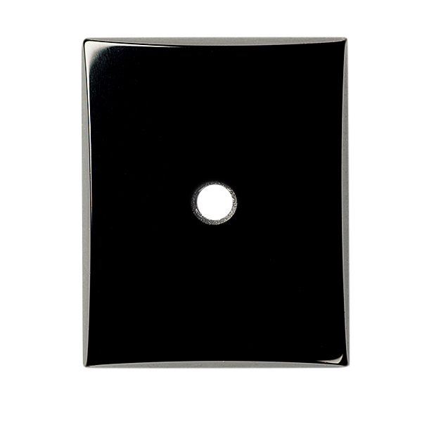 Natural Extra Fine Black Onyx - Rectangle Buff Top Cabochon Drill Hole - Brazil - AAA+ Grade