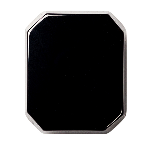 Natural Extra Fine Black Onyx - Emerald Octagon Buff Top Cabochon - Brazil - AAA+ Grade
