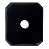 Natural Extra Fine Black Onyx - Emerald Octagon Buff Top Drill Hole Cabochon - Brazil - AAA+ Grade