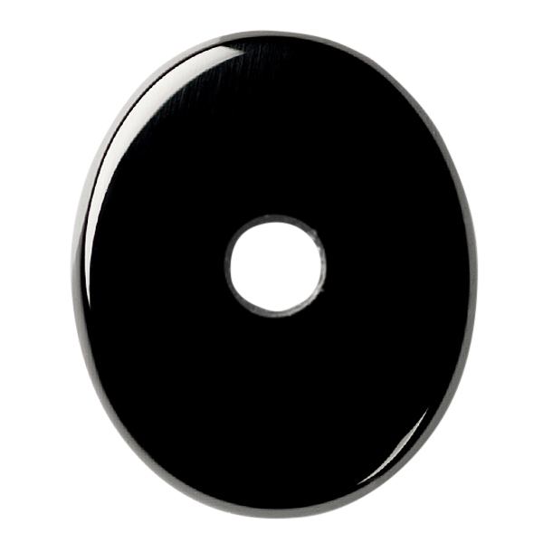 Natural Extra Fine Black Onyx - Oval Buff Top Drill Hole Cabochon - Brazil - AAA+ Grade