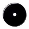 Natural Extra Fine Black Onyx - Round Buff Top Drill Hole Cabochon - Brazil - AAA+ Grade