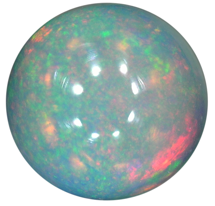 Natural Fine White Opal - Round Cabochon - Ethiopia - Top Grade - NW Gems & Diamonds