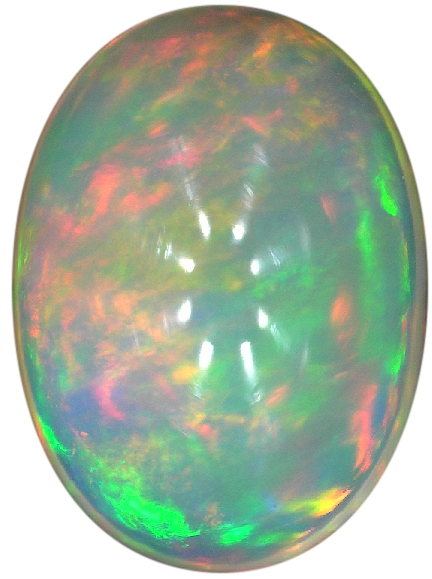 Natural Fine White Opal - Oval Cabochon - Ethiopia - Top Grade - NW Gems & Diamonds
