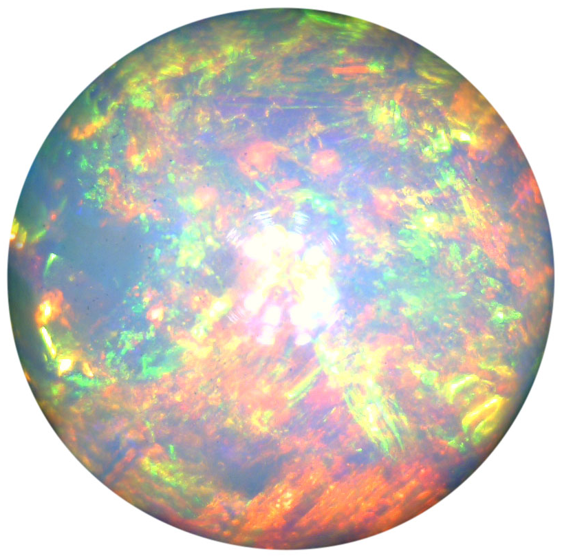 Natural Extra Fine White Opal - Round Cabochon - Ethiopia - Extra Fine Grade - NW Gems & Diamonds