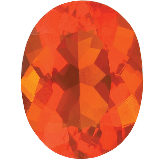 Natural Fine Orange Red Mexican Fire Opal - Oval - Mexico - Top Grade - NW Gems & Diamonds