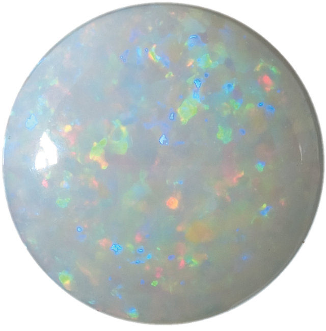 Natural Fine White Opal - Round Cabochon - Australia - Select Grade - NW Gems & Diamonds