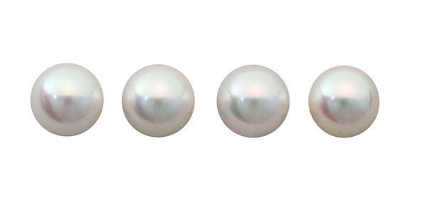Natural Super Fine White Japanese Akoya Saltwater Pearl - Round - Un-Drilled - Japan - AAAA Grade