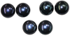 Natural Extra Fine Black Japanese Akoya Saltwater Pearl - Round - Half-Drilled - Japan - AAA+ Grade