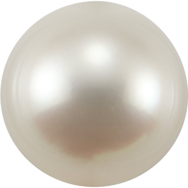 Natural Super Fine White Japanese Akoya Saltwater Pearl - Round - Half-Drilled - Japan - AAAA Grade