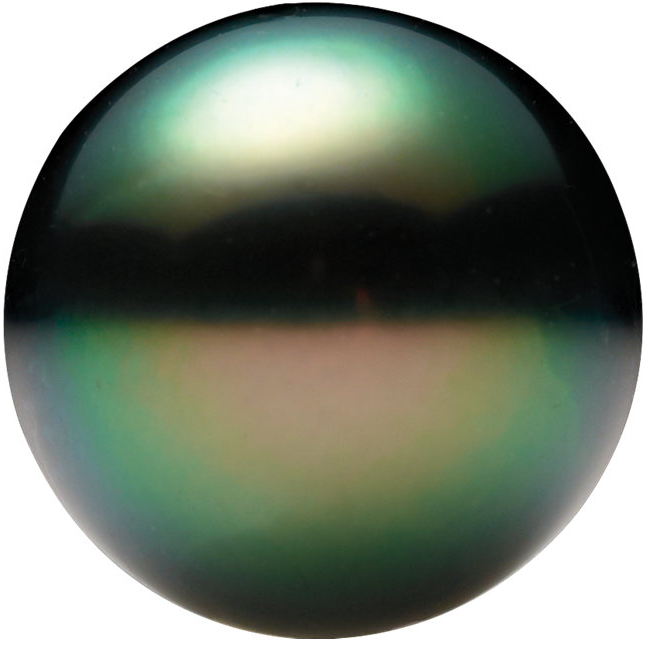 Natural Extra Fine Fancy Tahitian Saltwater Pearl - Round - Un-Drilled - French Polynesia - AAA+ Grade