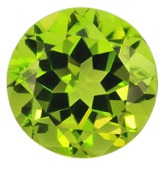 Natural Fine Rich Lime Green Peridot - Round - Pakistan - Top Grade - NW Gems & Diamonds