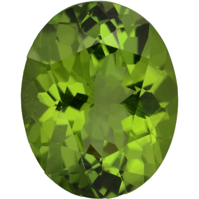 Natural Fine Rich Apple Green Peridot - Oval - Arizona - Top Grade - NW Gems & Diamonds