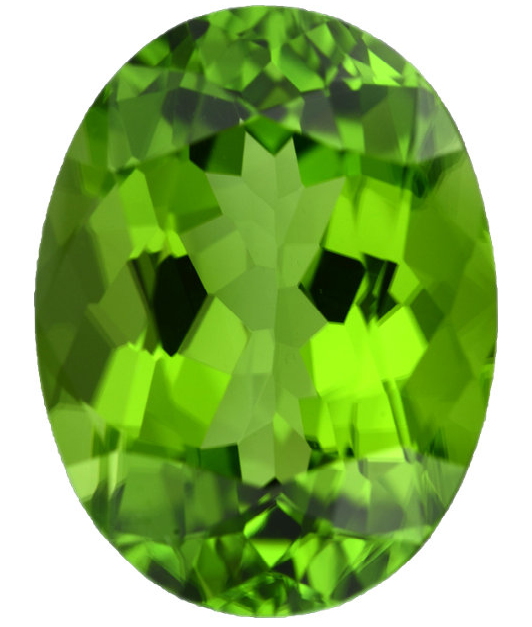 Natural Fine Crisp Apple Green Peridot - Oval - Pakistan - Top Grade - NW Gems & Diamonds