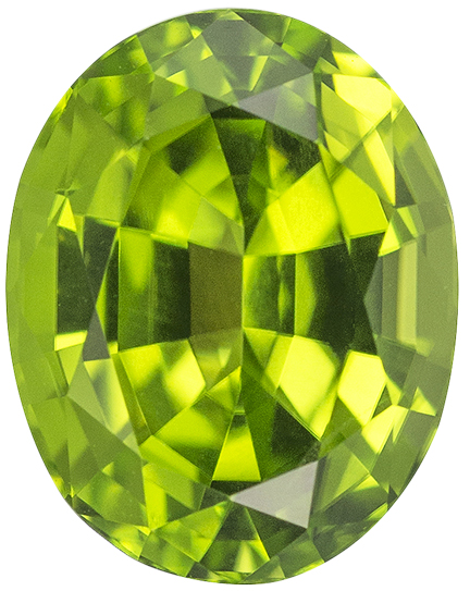 Natural Fine Rich Lime Green Peridot - Oval - China - Top Grade - NW Gems & Diamonds
