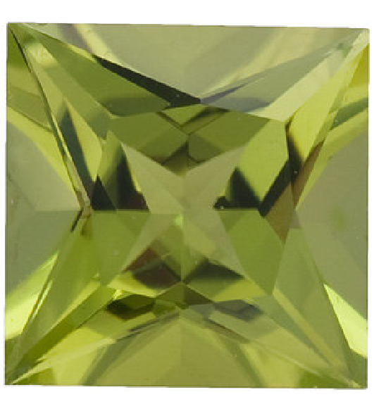 Natural Fine Rich Green Peridot - Square Princess - Arizona - Top Grade - NW Gems & Diamonds