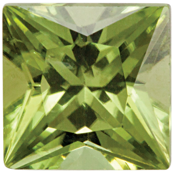 Natural Fine Green Peridot - Square Princess - Pakistan - Top Grade - NW Gems & Diamonds