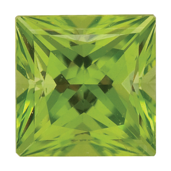 Natural Fine Apple Green Peridot - Square Princess - Pakistan - Top Grade - NW Gems & Diamonds