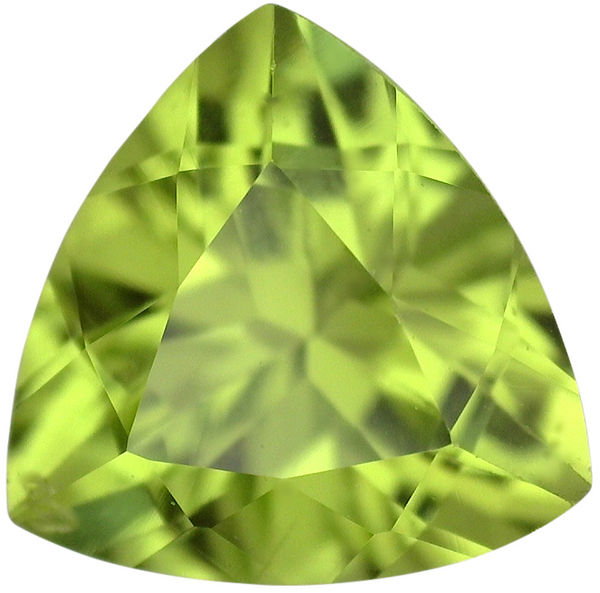 Natural Fine Apple Green Peridot - Trillion - Pakistan - AAA Grade