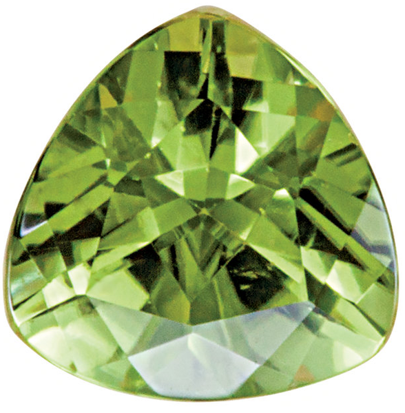 Natural Fine Green Peridot - Trillion - Arizona - AAA Grade