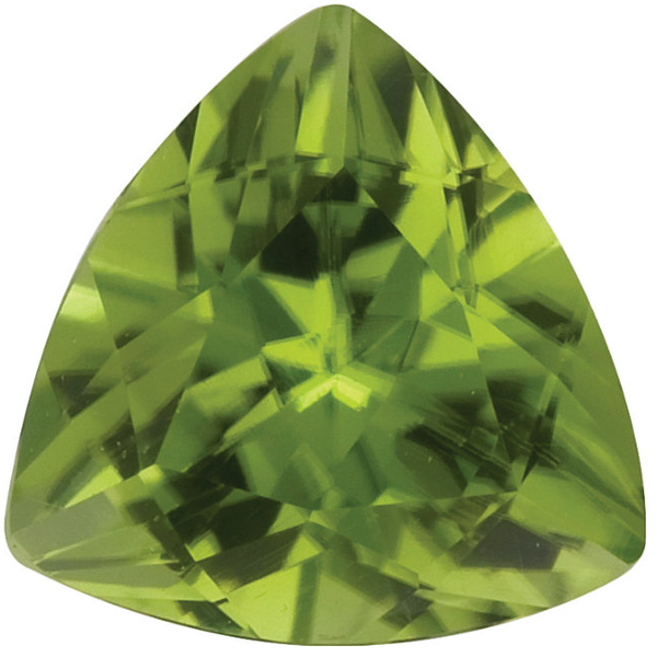 Natural Fine Rich Green Peridot - Trillion - Pakistan - AAA Grade