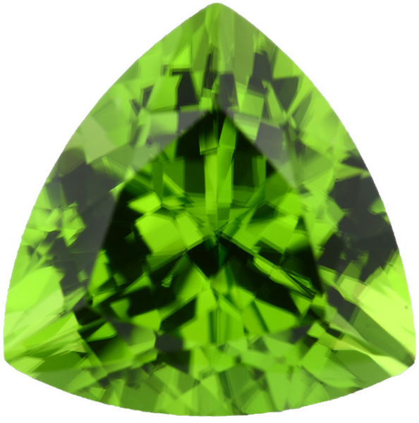 Natural Fine Vivid Green Peridot - Trillion - Pakistan - AAA Grade