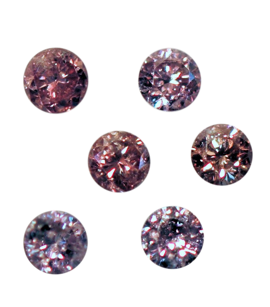 Natural Rare Fine Pink Diamond - Round - Unheated, Untreated