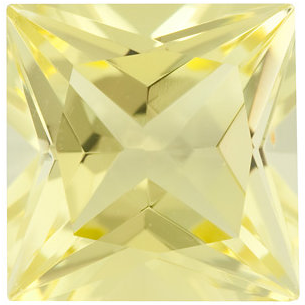 Natural Fine Yellow Lemon Quartz - Square Princess - Brazil - Top Grade - NW Gems & Diamonds