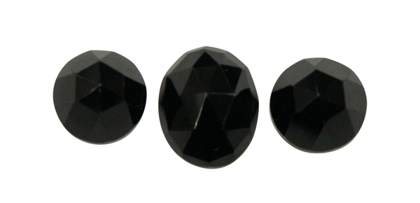 Natural Extra Fine Black Spinel - Round & Oval Rose Cut Cabochon - Madagascar - AAA+ Grade