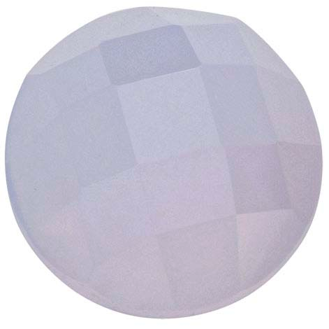Natural Extra Fine Blue Chalcedony - Round Rose Cut Cabochon - Namibia - AAA+ Grade