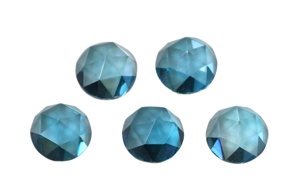 Natural Extra Fine London Blue Topaz - Round Rose Cut Cabochon - Brazil - AAA+ Grade