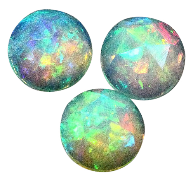 Natural Extra Fine Opal - Round Rose Cut Cabochon - Ethiopia - AAA+ Grade