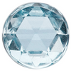 Natural Extra Fine Sky Blue Topaz - Round Rose Cut Cabochon - Brazil - AAA+ Grade