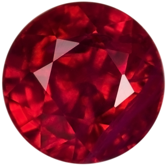 Natural Fine Red Ruby - Round - Africa - AAA Grade