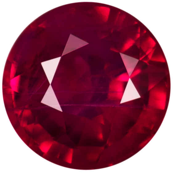 Natural Fine Red Ruby - Round - Africa - AA+ Grade