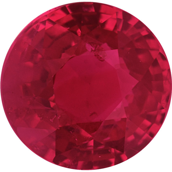 Natural Fine Vivid Red Ruby - Round Diamond Cut - Burma - AAA Grade