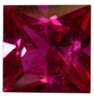 Natural Fine Pink Red Ruby - Square Princess - Africa - Top Grade - NW Gems & Diamonds