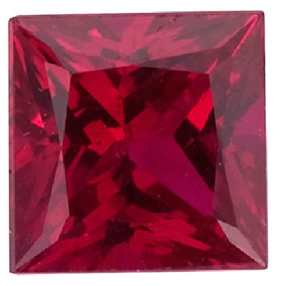 Natural Fine Rich Red Ruby - Square Princess - Africa - Top Grade - NW Gems & Diamonds