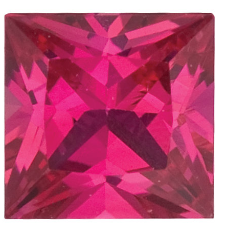 Natural Fine Red Pink Ruby - Square Princess - Africa - Top Grade - NW Gems & Diamonds