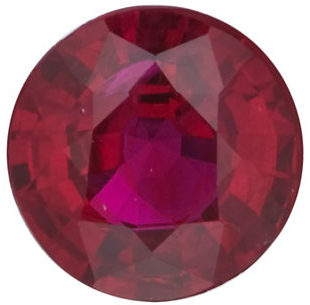 Natural Fine Medium Deep Red Ruby - Round - Madagascar - Top Grade - NW Gems & Diamonds