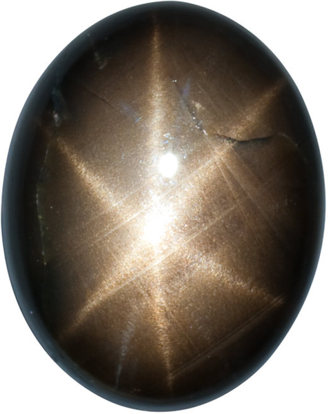 Natural Fine Black Star Sapphire - Oval Cabochon - Unheated, Untreated - Sri Lanka - Top Grade - NW Gems & Diamonds
