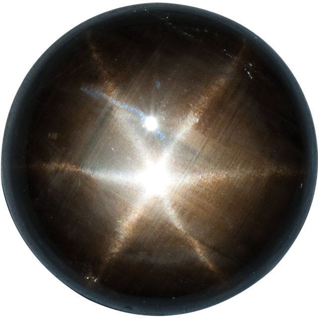 Natural Fine Black Star Sapphire - Round Cabochon - Unheated, Untreated - Sri Lanka - Top Grade - NW Gems & Diamonds